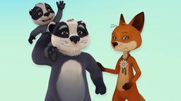 Monsieur Blaireau et Madame Renard forment une famille recomposée avec leurs enfants respectifs. Au'