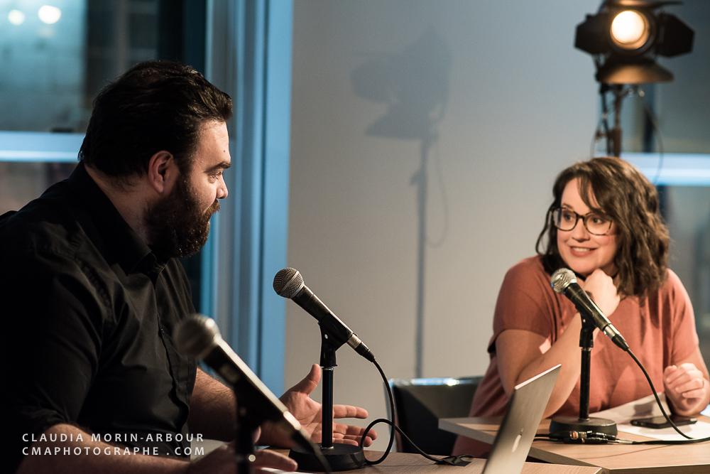 Catherine Perreault-Lessard et Steve Marcoux, chroniqueurs