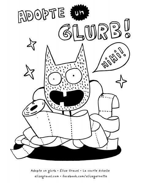 Un petit monstre s'amuse avec du papier de toilette.