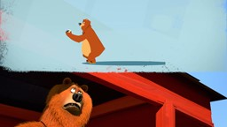 L'ourse dont Grizzy est amoureux perd la fleur qu'elle porte dans ses cheveux et Grizzy y voit une'
