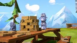 Grizzy décide de construire une tour pour impressionner l'ourse dont il est amoureux.'