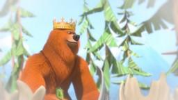 Grizzy rêve qu'il est un preux chevalier qui vient délivrer sa belle.'