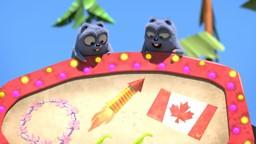 Grizzy et les Lemmings veulent des œufs surprises.'