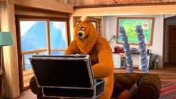 Grizzy trouve chez le Ranger un appareil high-tech qui permet d'apprendre n'importe quelle'