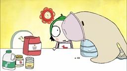 Aujourd'hui c'est l'anniversaire de Couac et Sarah veut lui préparer un gâteau…'