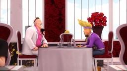 Ladybug et Chat Noir affrontent Luka, akumatisé en Silence.'