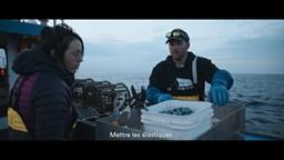 Maxime amène Agathe pêcher et Olivier s'entraîne à manœuvrer le bateau'