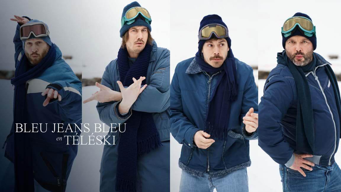 Bleu Jeans Bleu en téléski