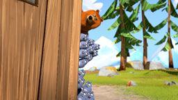 Grizzy essaie de confisque la boîte d'expériences des Lemmings.'