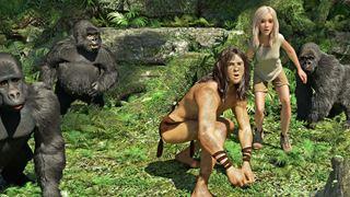 Le combat du seigneur de la jungle